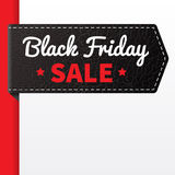 Black Firday sale black leather badge Royalty Free Stock Photography