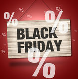 Black Firday Sale Wood Sign Stock Images