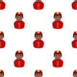 Black Firefighter Avatar Seamless Pattern Stock Photography