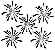 Black Fireworks Royalty Free Stock Photos