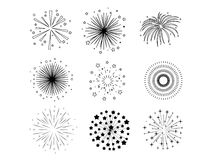 Black fireworks Royalty Free Stock Photos