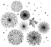 Black Fireworks Royalty Free Stock Image