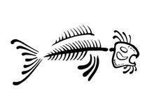 Black fish bone, vector illustration Stock Photography