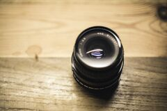 Black Fish Eye Lens Stock Photo