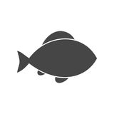 Black Fish icon on white background. Fish icon, simple vector icon Stock Images