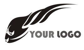 Black fish logo. Isolated on a white background Stock Image