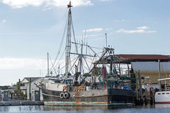Black Fishing Boat Royalty Free Stock Image