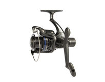 Black fishing reel Royalty Free Stock Photo