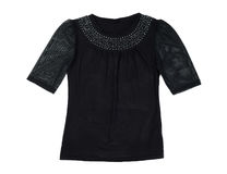 Black fishnet blouse Stock Photos