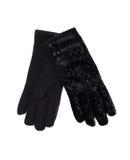 Black fishnet gloves Royalty Free Stock Images