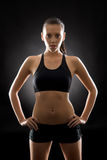 Black fitness woman sport young posing portrait Stock Image