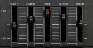 Black five band equalizer Royalty Free Stock Images