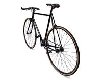 Black fixed gear bicycle Stock Image