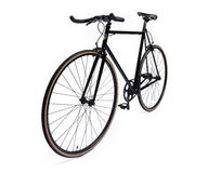 Black fixed gear bicycle Royalty Free Stock Image