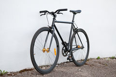 Black fixed-gear bicycle royalty free stock images
