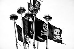 Black flag Royalty Free Stock Image