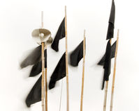 Black flags Stock Image