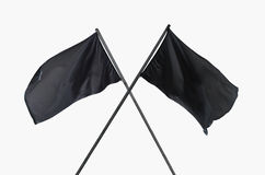 Black flags crossed Royalty Free Stock Photography