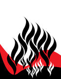 Black Flame Background Royalty Free Stock Photos