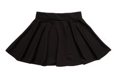 Black flared skirt Stock Photo
