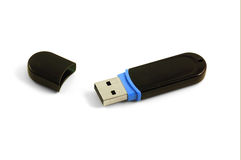 Black flash drive isolated Royalty Free Stock Photos