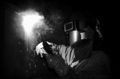 Black flash weld Stock Images