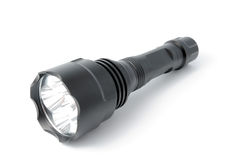Black flashlight Stock Images
