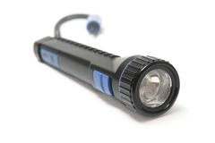 Black flashlight Royalty Free Stock Images