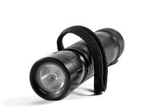 Black flashlight Royalty Free Stock Image