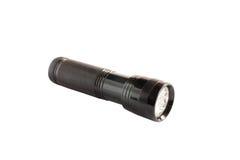 Black flashlight 3. Black flashlight isolated on white background Royalty Free Stock Image