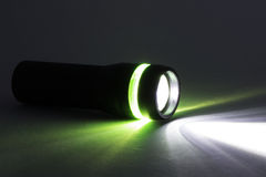 Black flashlight Royalty Free Stock Photos