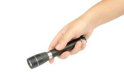 Black flashlight Royalty Free Stock Photos