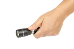 Black flashlight Royalty Free Stock Image