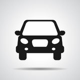 Black flat car button icon Royalty Free Stock Photography