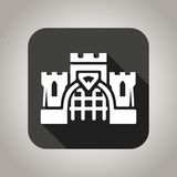 Black flat castle icon for web and mobile Royalty Free Stock Image