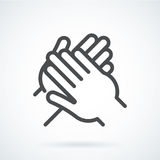 Black flat icon gesture hand of a human applause, bravo Stock Photos