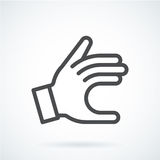 Black flat icon gesture hand of a human give. Royalty Free Stock Images