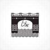 Black flat icon for rope jumping Stock Photos
