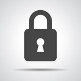 Black flat lock icon Royalty Free Stock Image