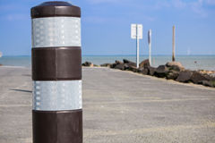 Black flexible bollard Royalty Free Stock Photos