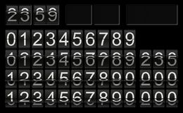 Black flip clock template with numbers in different flip situations for individual scoreboard setup royalty free illustration