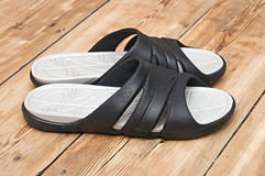 Black flip flops Royalty Free Stock Images