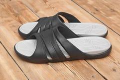 Black flip flops Royalty Free Stock Images