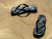 Where did i leave my flipflop sandals Royalty Free Stock Photo