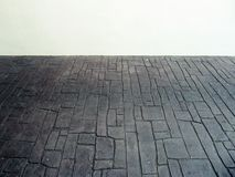 Black Floor And White Walls Stock Photography