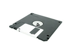 Black floppy disc Royalty Free Stock Photo