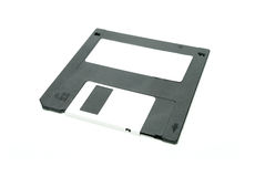 Black floppy disc Royalty Free Stock Photo