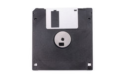 Black floppy disk. With white background Royalty Free Stock Images