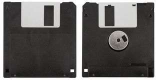 Black floppy disk Royalty Free Stock Photos