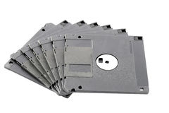 Black floppy disk isolated. Stock Image